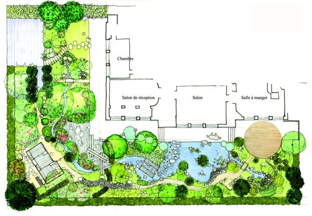 Conception d un jardin japonais un plan d taill for Conception jardin japonais