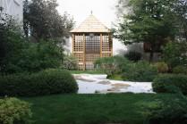 Pavillon japonais et jardin zen