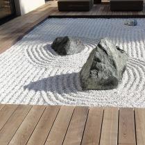 Palaiseau : jardin zen en terrasse