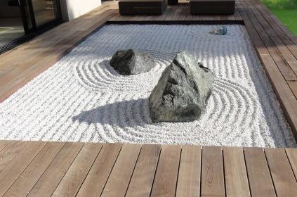 Jardin zen en terrasse
