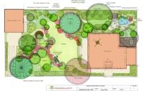 Fontainebleau - Plan du jardin japonais