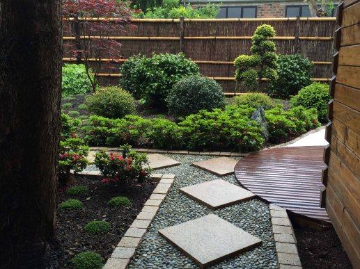 Jardin japonais rouge conception et r alisation for Plan de petit jardin japonais